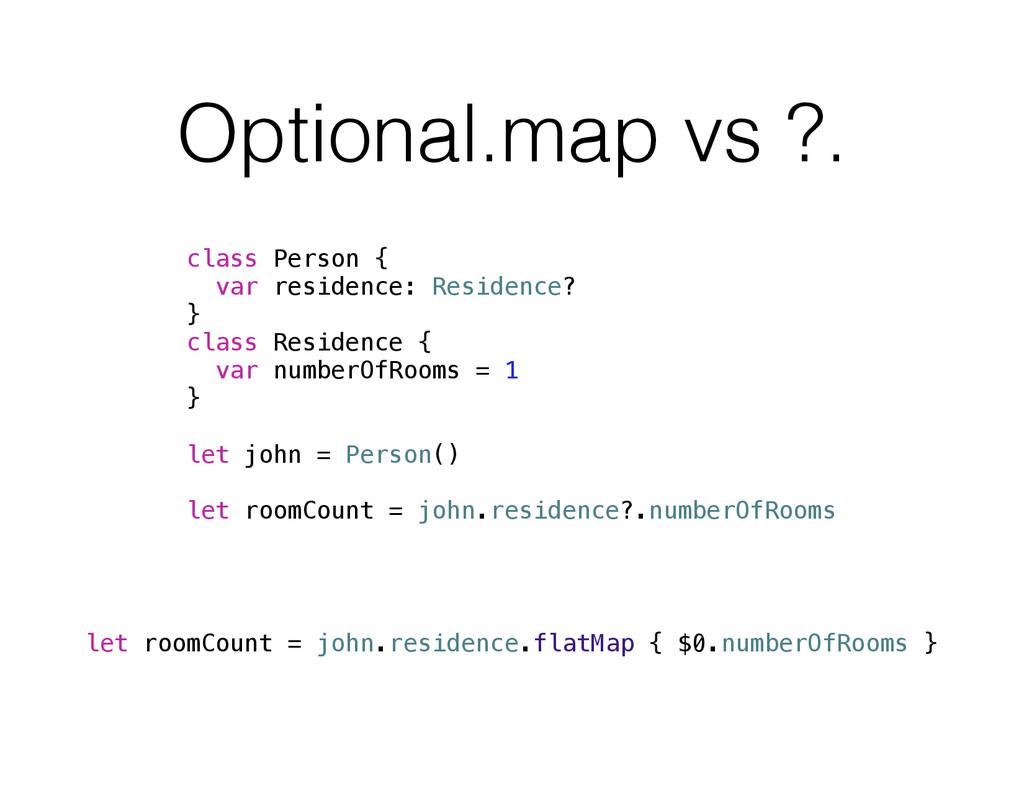 Optional.map vs ?. class Person { var residence...
