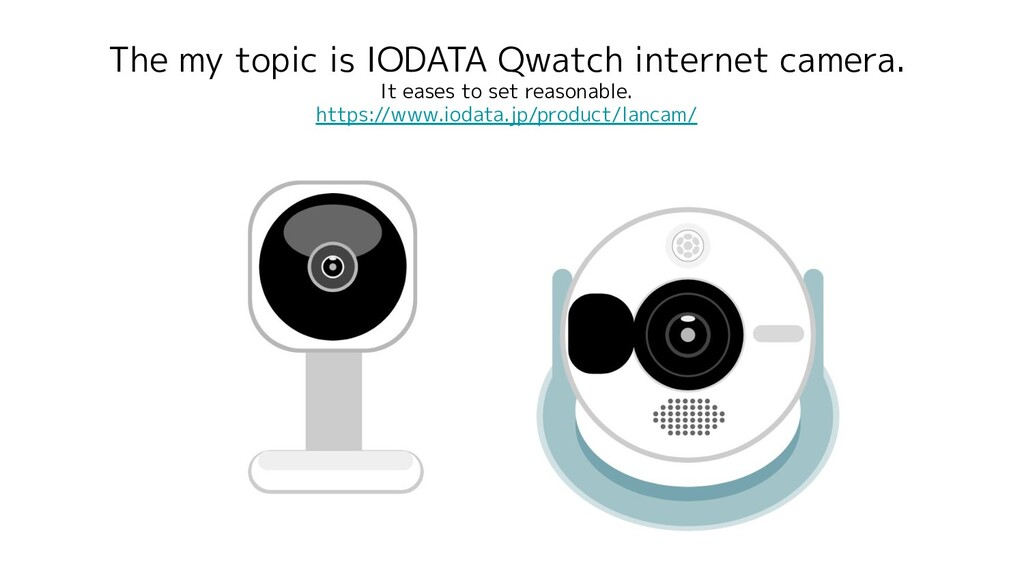 The my topic is IODATA Qwatch internet camera. ...