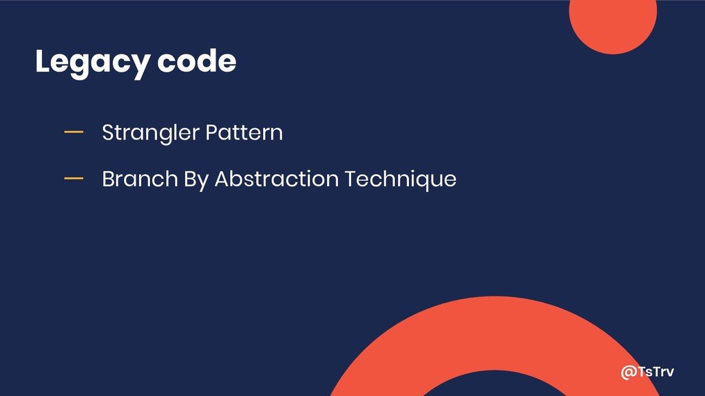 @TsTrv Legacy code ー Strangler Pattern ー Branch...