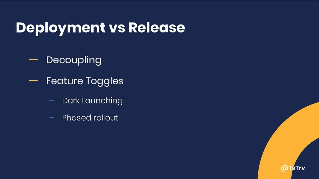 @TsTrv Deployment vs Release ー Decoupling ー Fea...