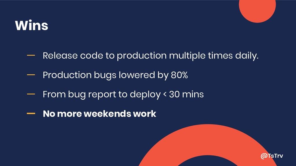 @TsTrv Wins ー Release code to production multip...
