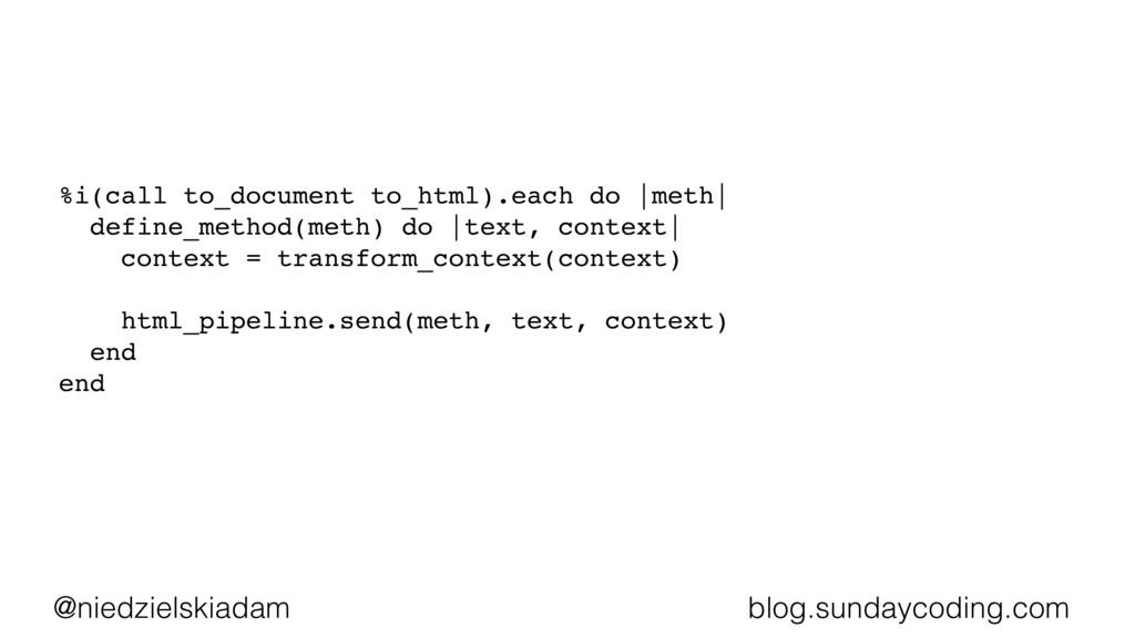 @niedzielskiadam blog.sundaycoding.com %i(call ...