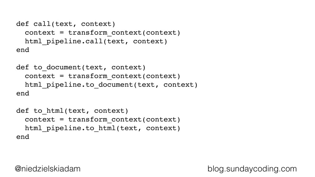 @niedzielskiadam blog.sundaycoding.com def call...