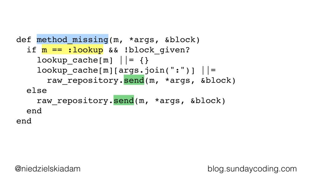@niedzielskiadam blog.sundaycoding.com def meth...