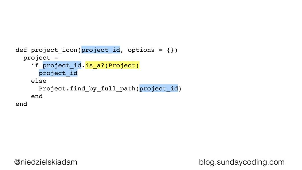 @niedzielskiadam blog.sundaycoding.com def proj...