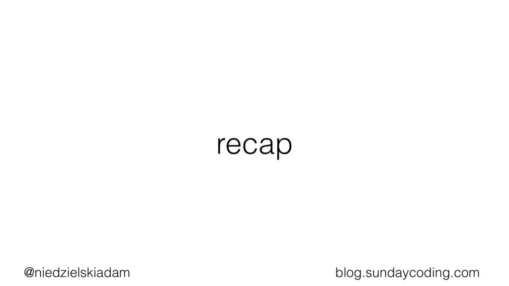 @niedzielskiadam blog.sundaycoding.com recap