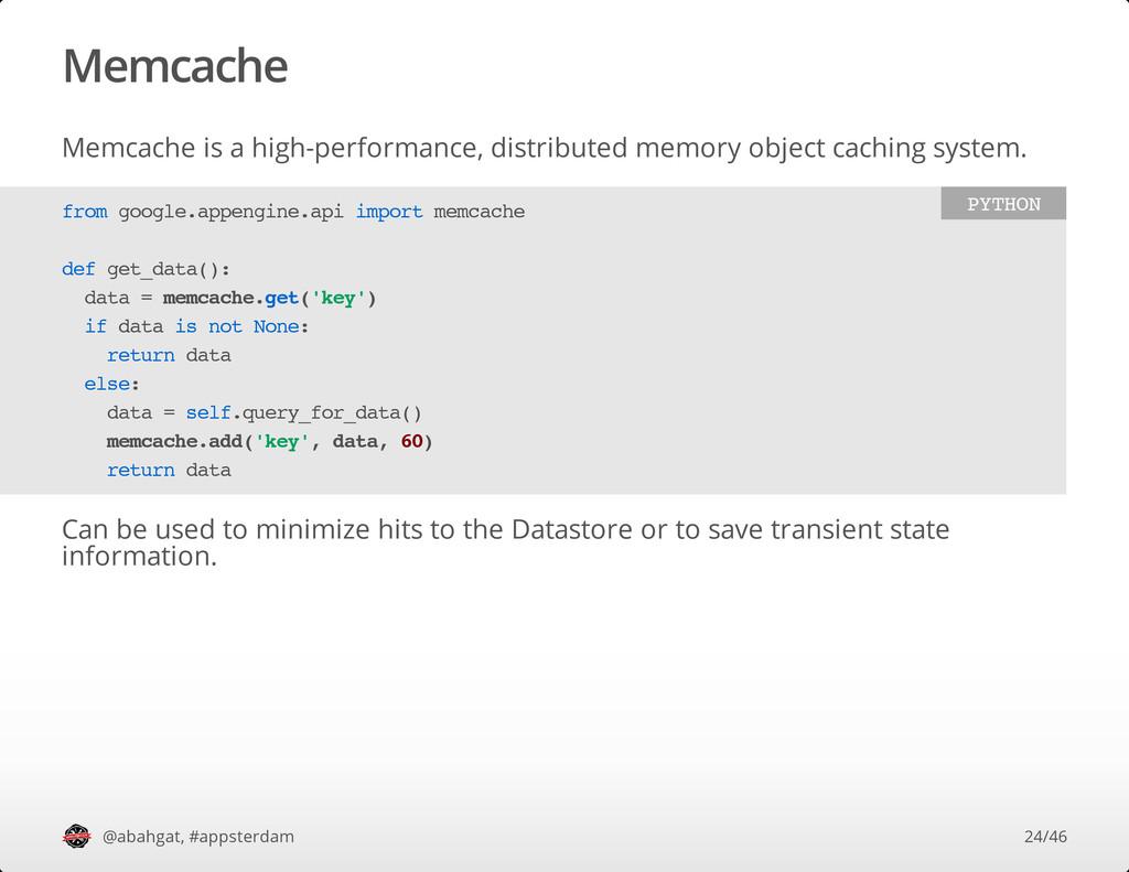 Memcache Memcache is a high-performance, distri...