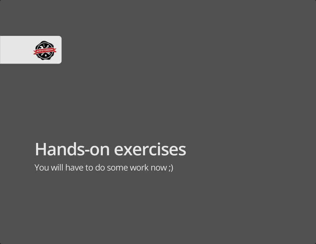 Hands-on exercises You will have to do some wor...