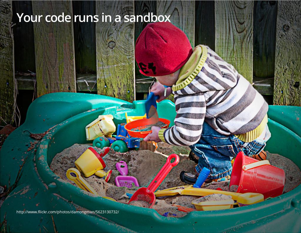 Your code runs in a sandbox http://www.flickr.c...