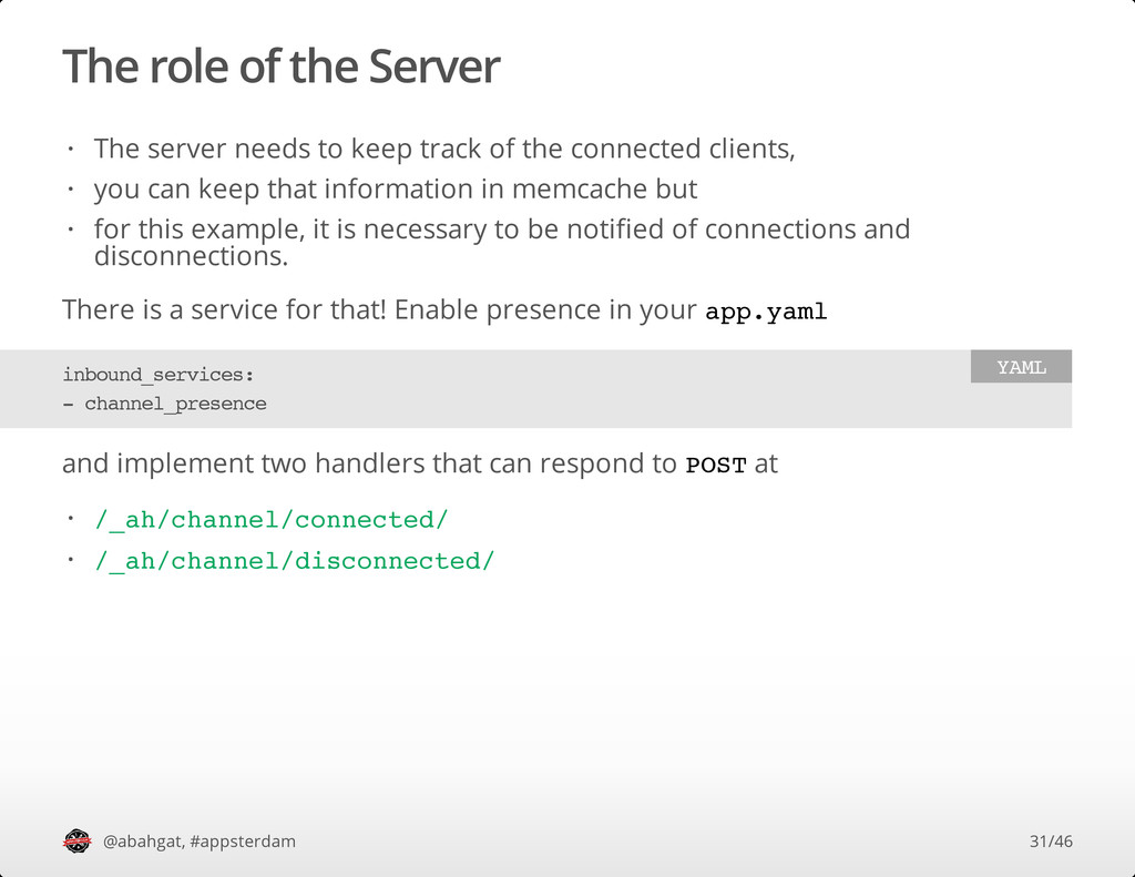 The role of the Server There is a service for t...