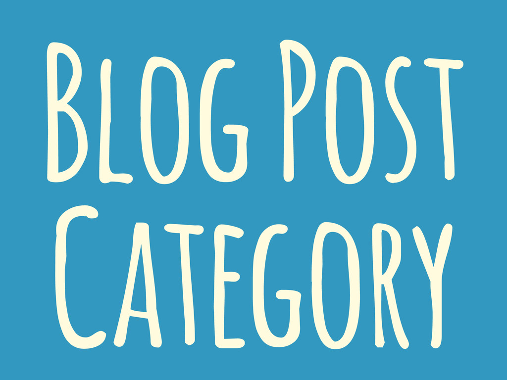 Blog Post Category