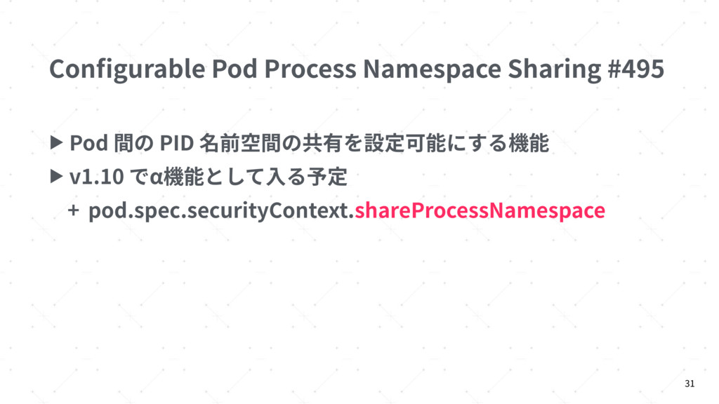 Configurable Pod Process Namespace Sharing #495 ...
