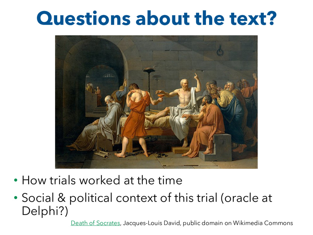 Questions about the text? • How trials worked a...