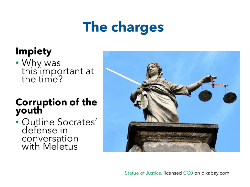 The charges Impiety • Why was this important at...