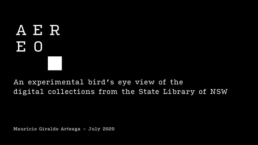 Mauricio Giraldo Arteaga - July 2020 An experim...