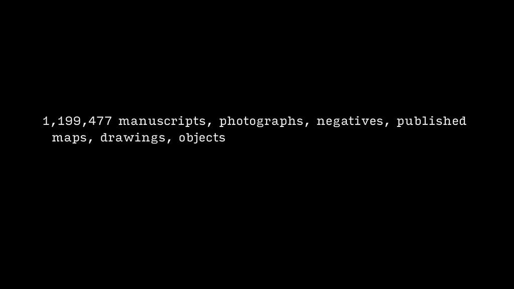 1,199,477 manuscripts, photographs, negatives, ...