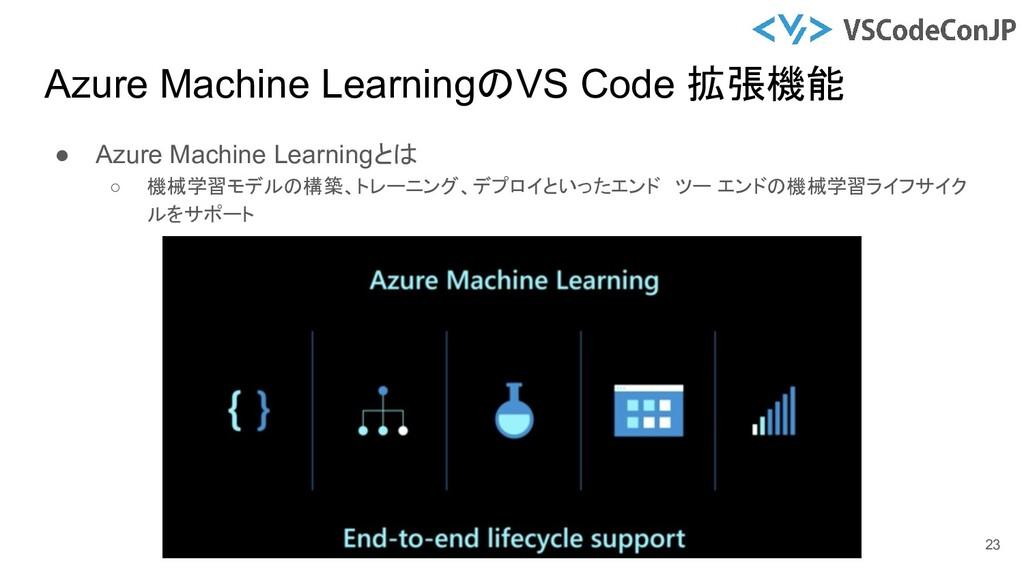 ● Azure Machine Learningとは ○ 機械学習モデルの構築、トレーニング、...