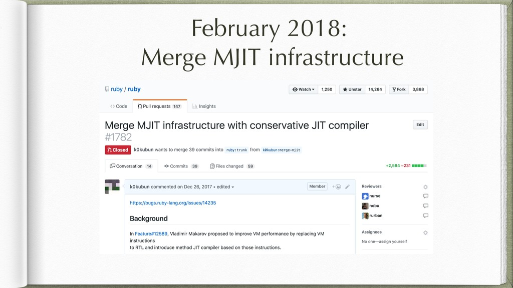 February 2018: Merge MJIT infrastructure