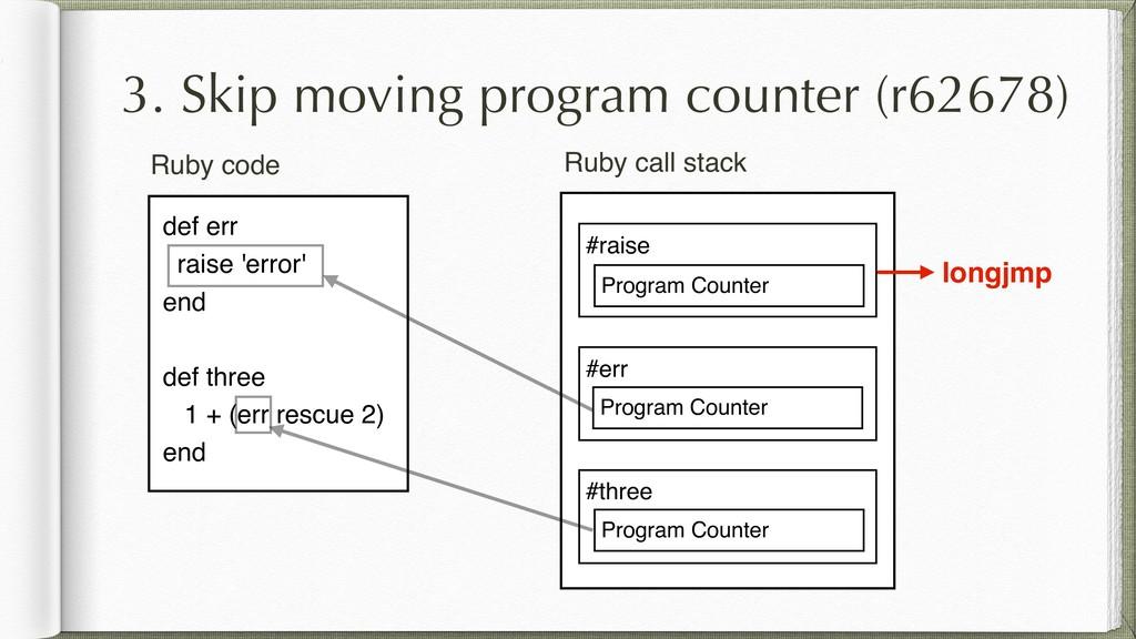 3. Skip moving program counter (r62678) def err...