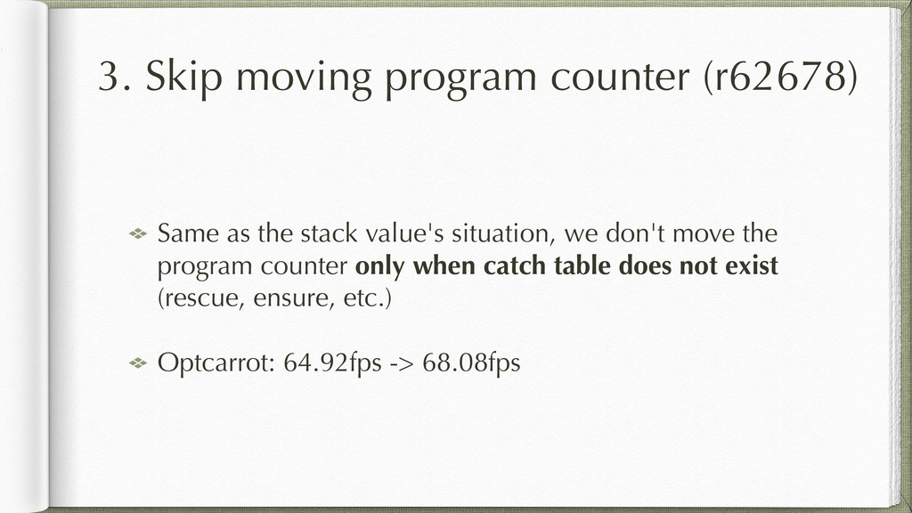 3. Skip moving program counter (r62678) Same as...
