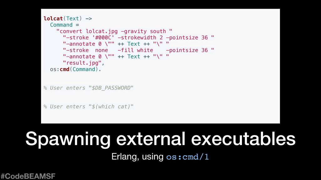 Erlang, using os:cmd/1 Spawning external execut...
