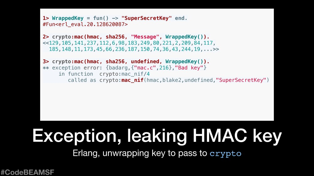 Erlang, unwrapping key to pass to crypto Except...