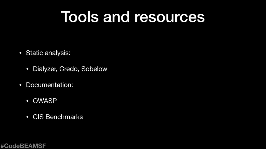 Tools and resources • Static analysis:  • Dialy...