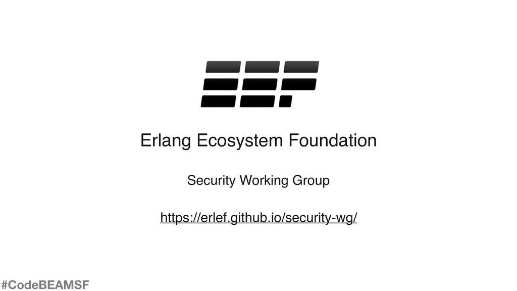 Erlang Ecosystem Foundation Security Working Gr...