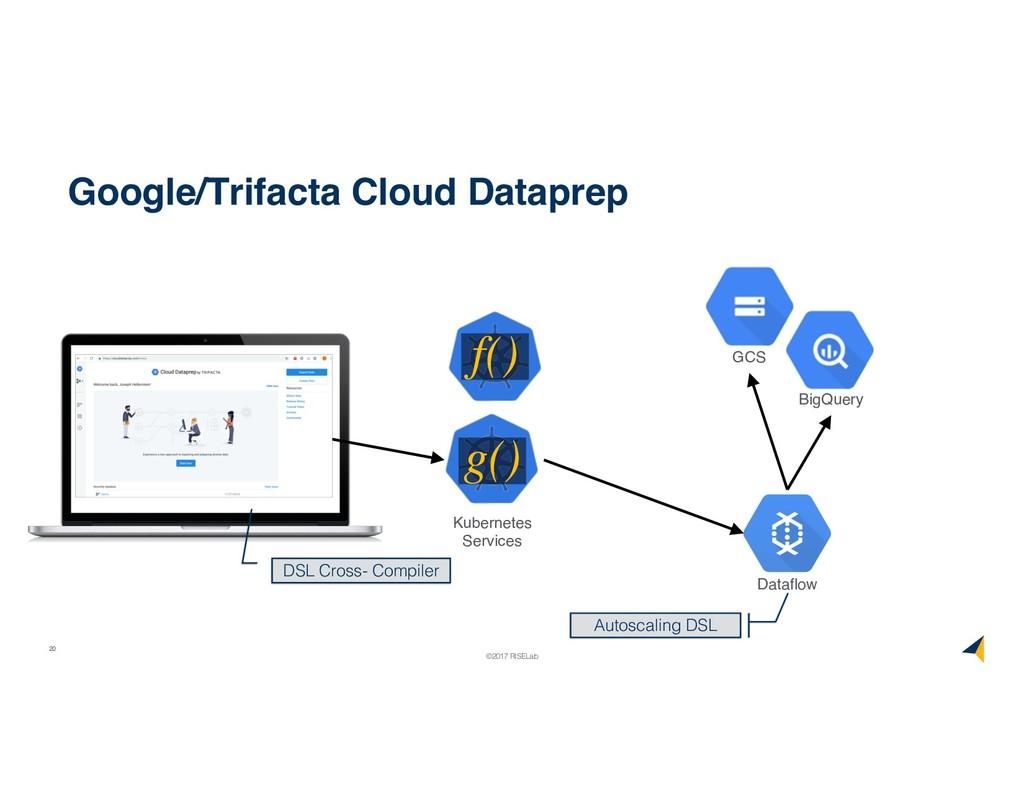 20 ©2017 RISELab Google/Trifacta Cloud Dataprep...