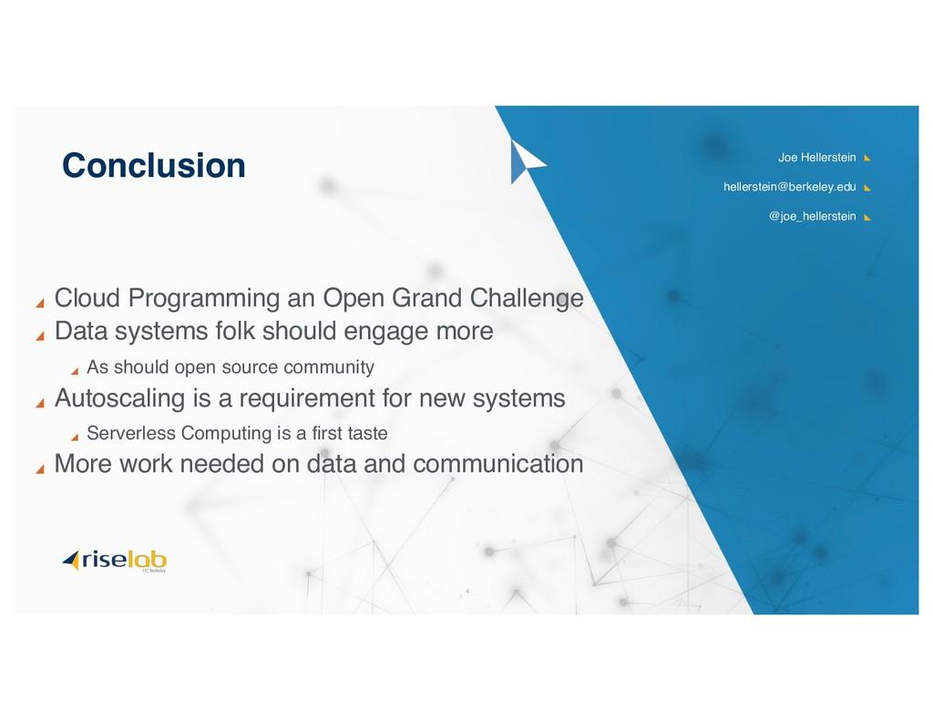 Cloud Programming an Open Grand Challenge Data ...