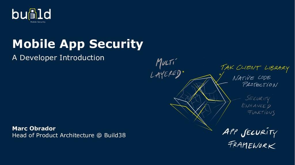 Mobile App Security A Developer Introduction Ma...