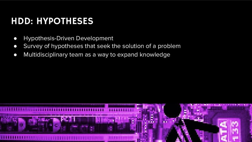 ● Hypothesis-Driven Development ● Survey of hyp...