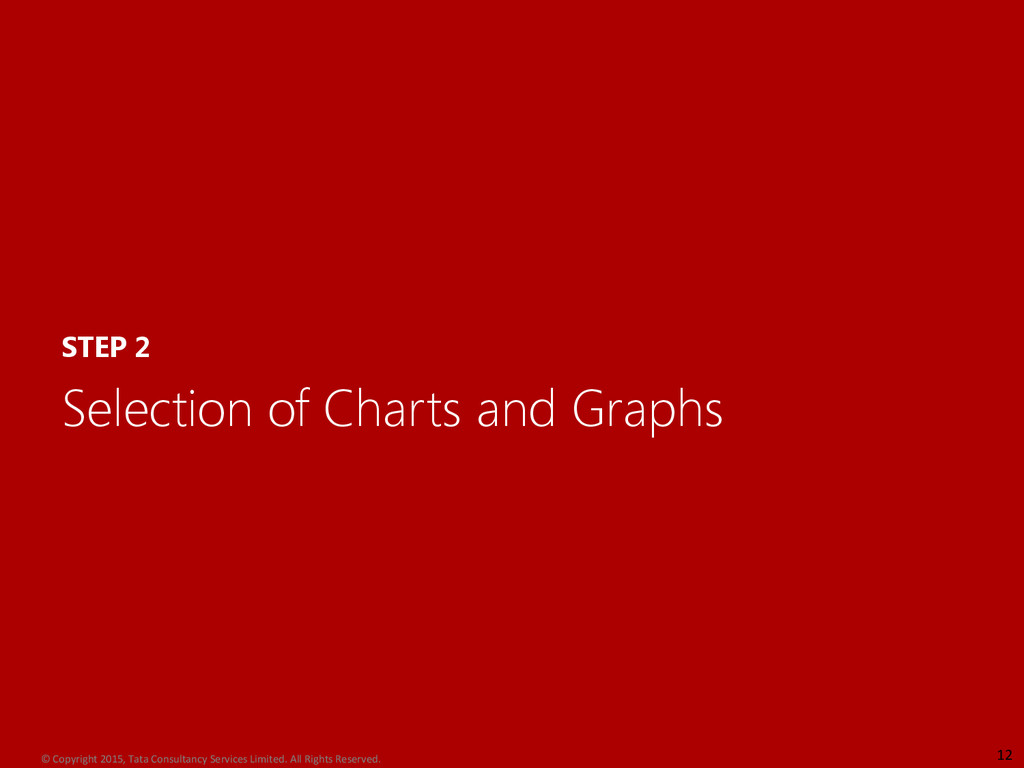 STEP 2 Selection of Charts and Graphs 12 © Copy...