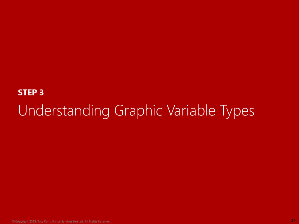 STEP 3 Understanding Graphic Variable Types 14 ...