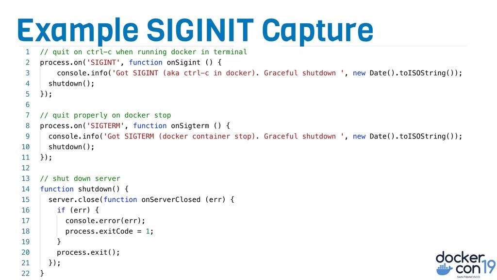 Example SIGINIT Capture