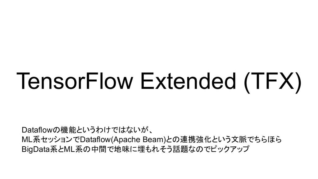 TensorFlow Extended (TFX) Dataflowの機能というわけではないが...