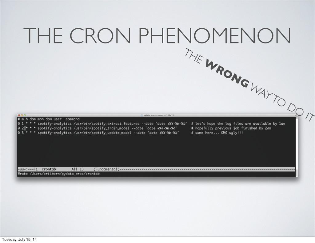 THE CRON PHENOMENON THE W RONG WAY TO DO IT Tue...