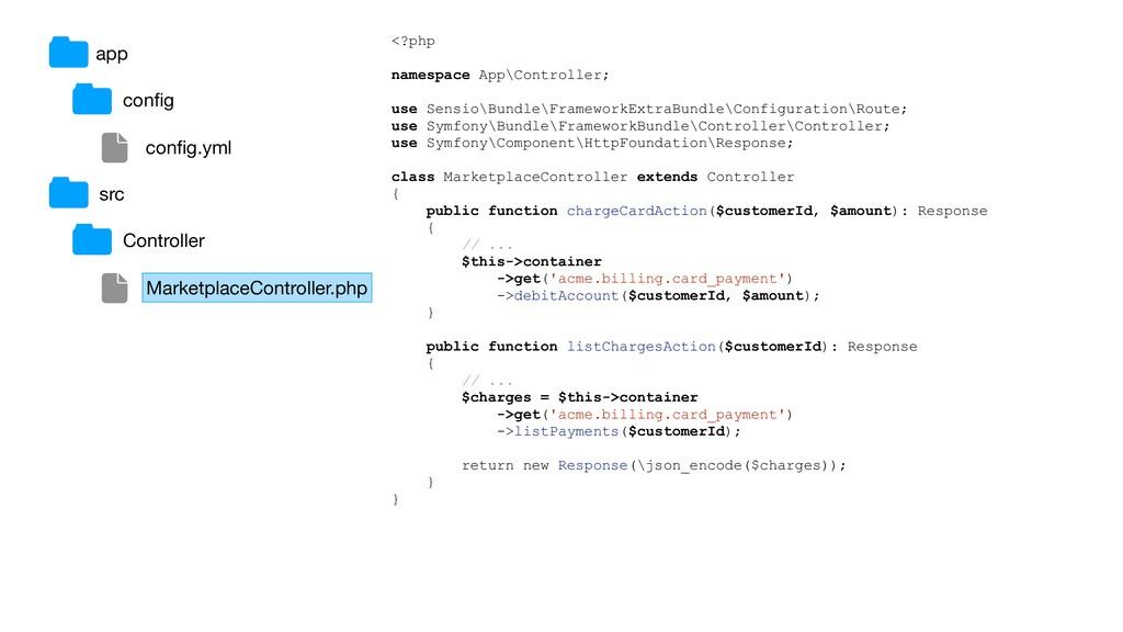 app config config.yml src Controller MarketplaceC...