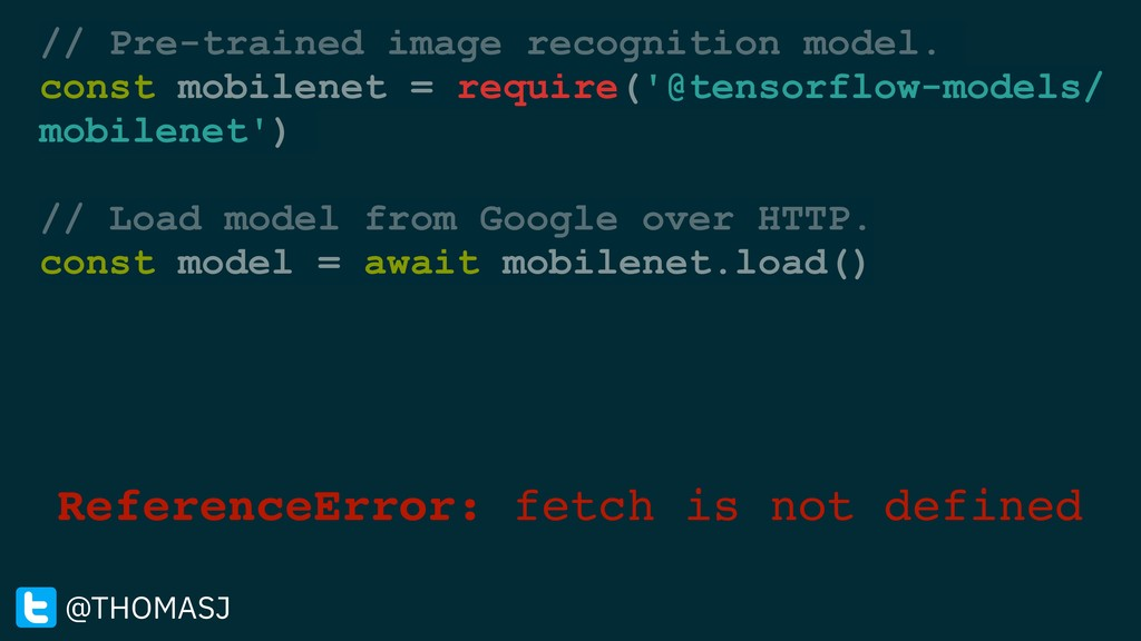 ReferenceError: fetch is not defined @THOMASJ /...