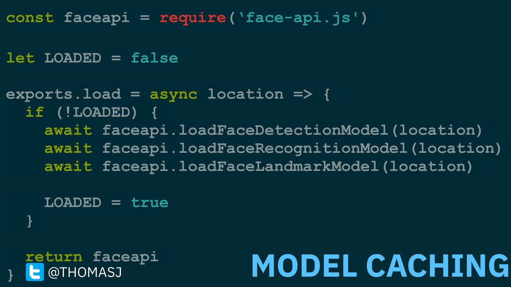 const faceapi = require('face-api.js') let LOAD...