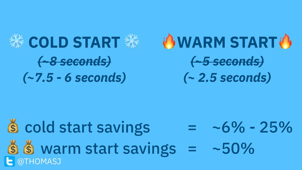 ❄ COLD START ❄ (~8 seconds) (~7.5 - 6 seconds)...