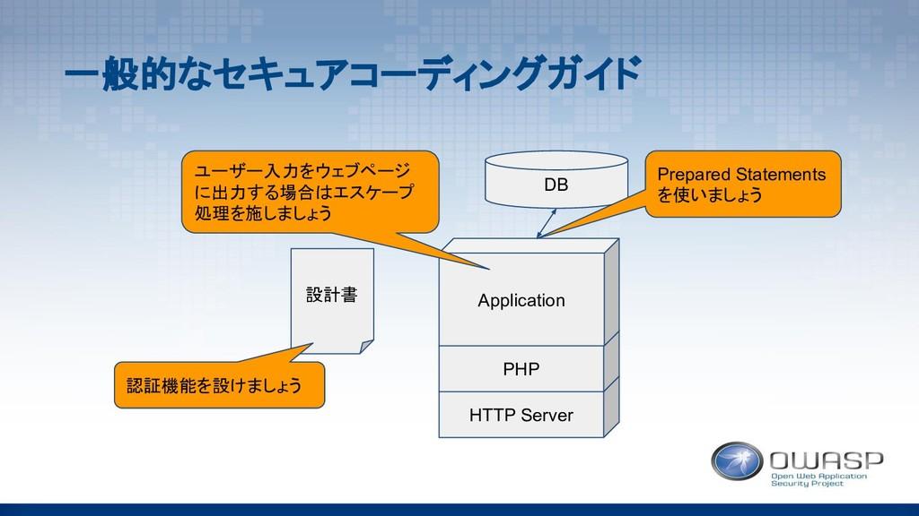 HTTP Server PHP Application DB 設計書 Prepared Sta...