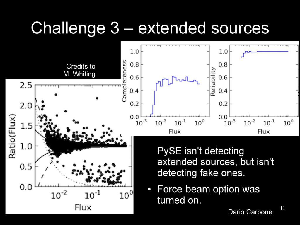 11 Challenge 3 – extended sources PySE isn't de...