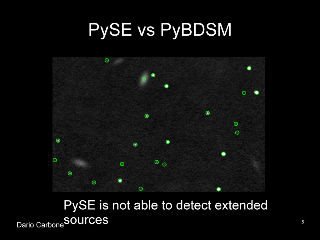 5 PySE vs PyBDSM PySE is not able to detect ext...