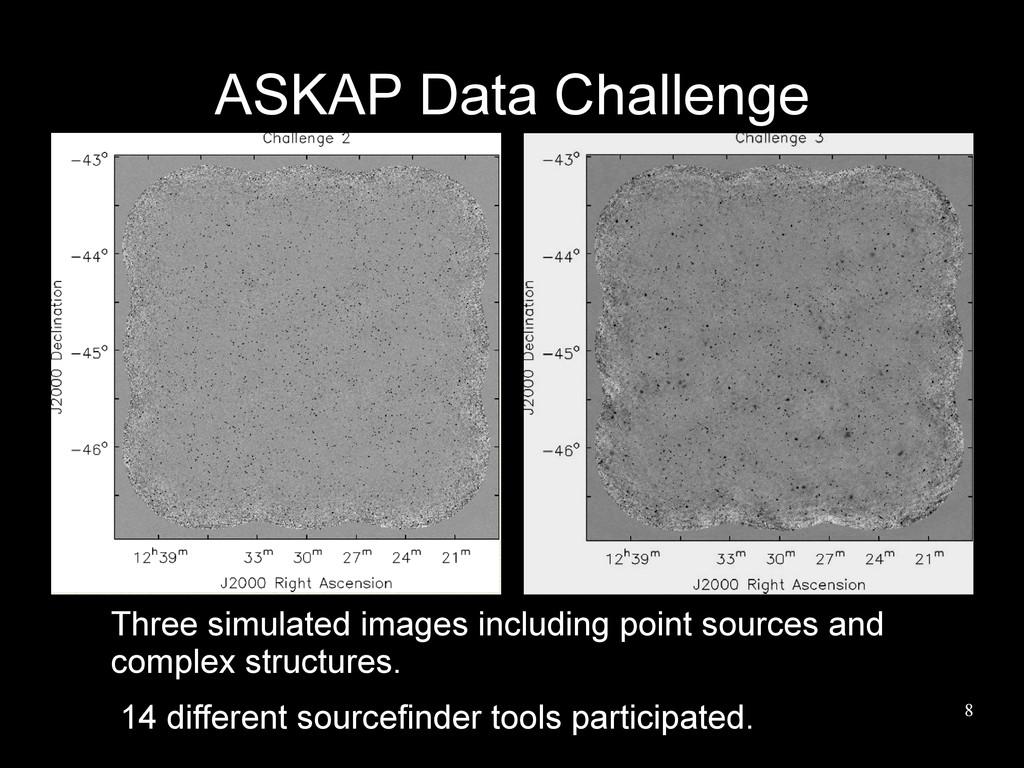 8 ASKAP Data Challenge Three simulated images i...