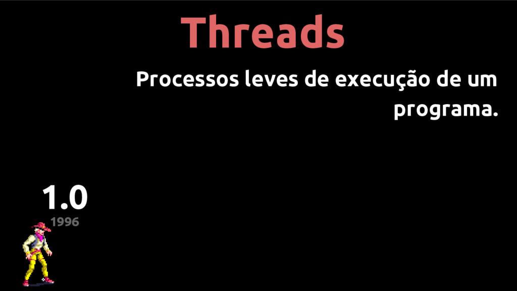 Threads Processos leves de execução de um progr...