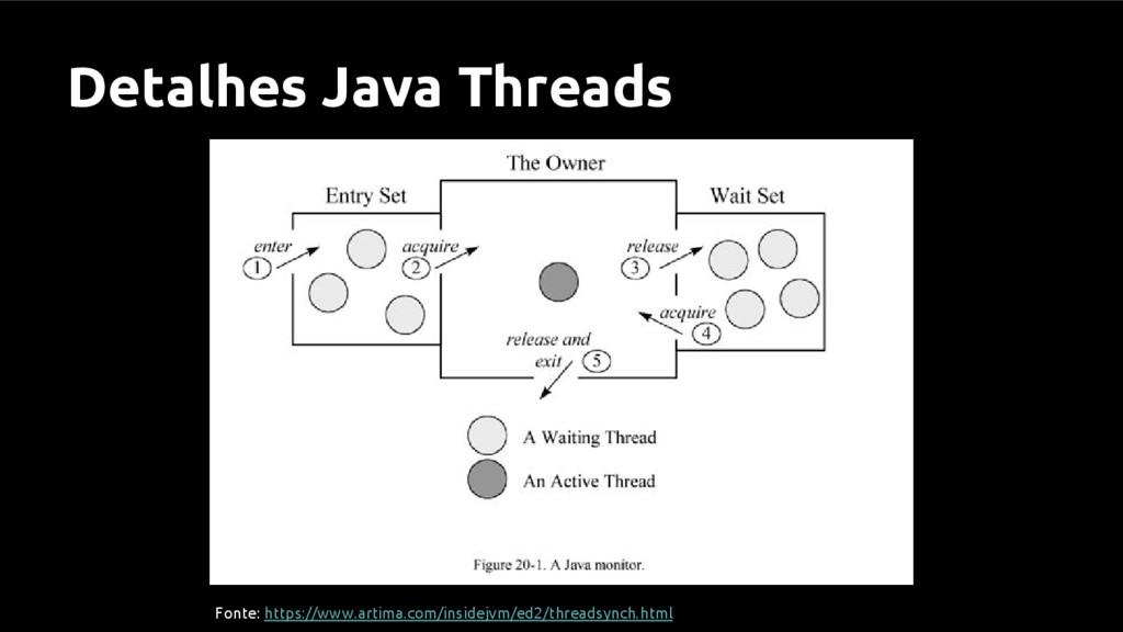 Detalhes Java Threads Fonte: https://www.artima...