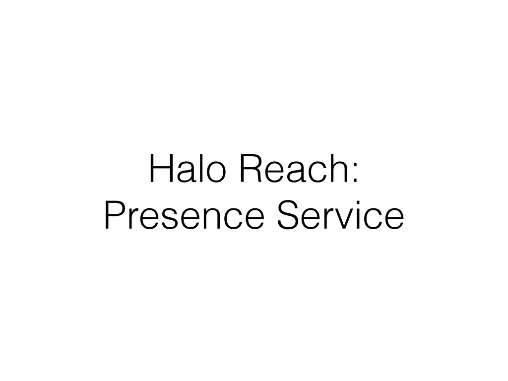 Halo Reach: Presence Service