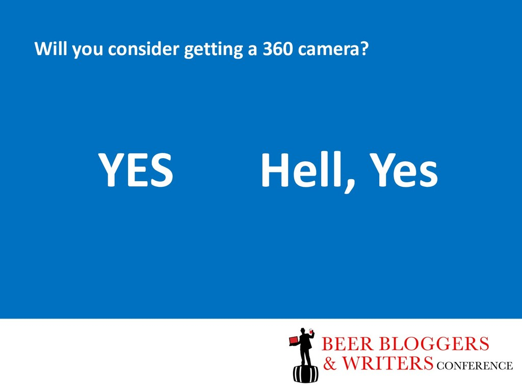 Will you consider getting a 360 camera? YES Hel...