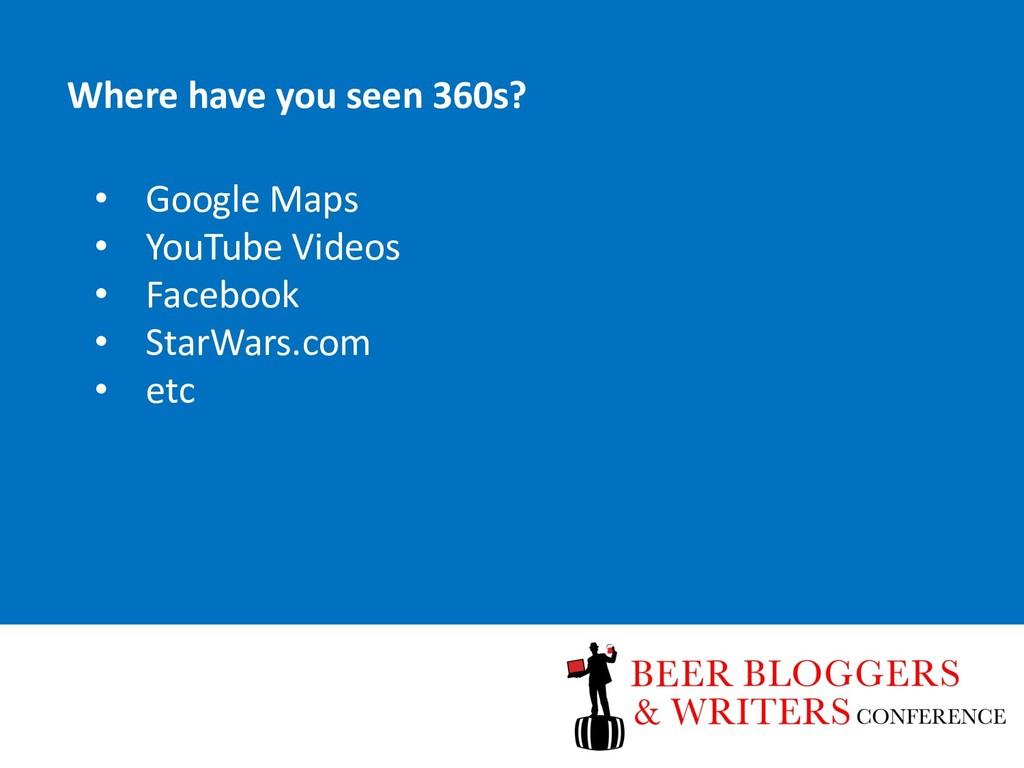 • Google Maps • YouTube Videos • Facebook • Sta...